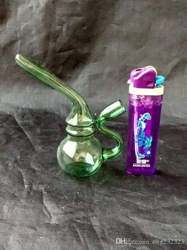 Çaydanlık şekli nargile cam bongs çeşitli aksesuarları, Cam Sigara Borular renkli mini çok renkli El Boruları En İyi Kaşık glas