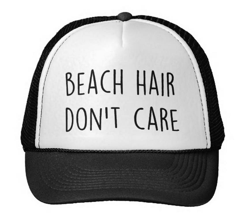 Wholesale Beach Hair Don T Care Letter Print Baseball Cap Trucker Hat For  Women Men Unisex Mesh Adjustable Size Black White Drop Ship M 82 Trucker Cap  ... 3e45ab5d5b0