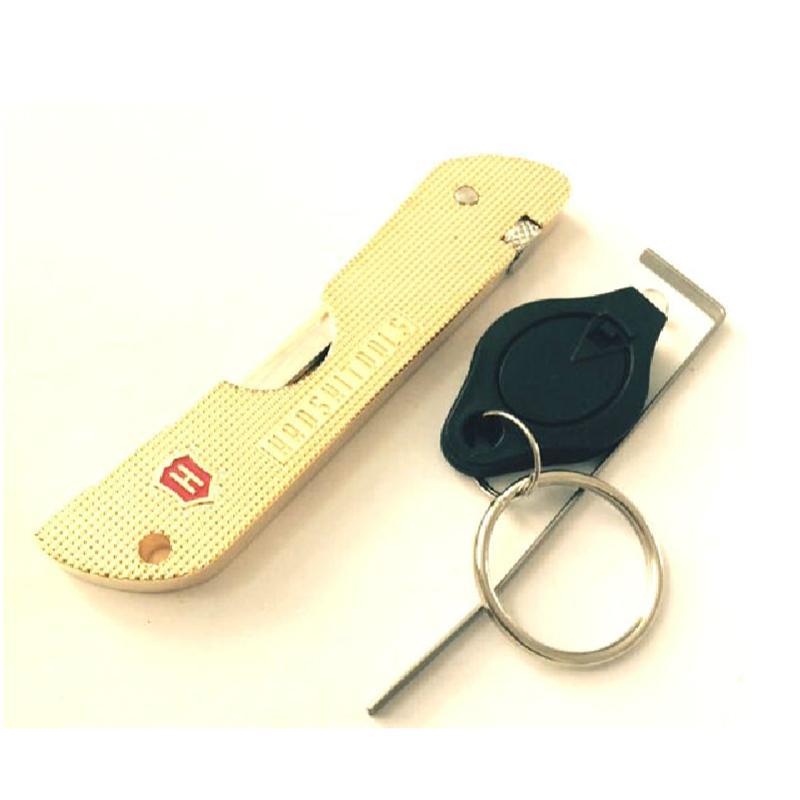 Hot Locksmith Tools Haoshi Tools Fold Lock Pick Gold Color Lock Picks Tools Jackknife Jack Knife Padlock