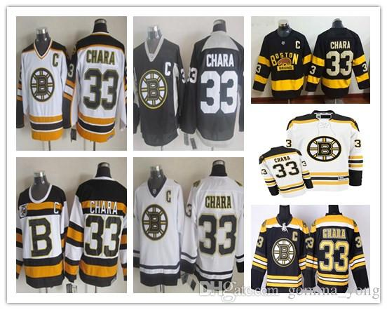 cd9cee03625 ... netherlands 2019 2017 boston bruins 33 zdeno chara jersey black white  third yellow alternate winter classic