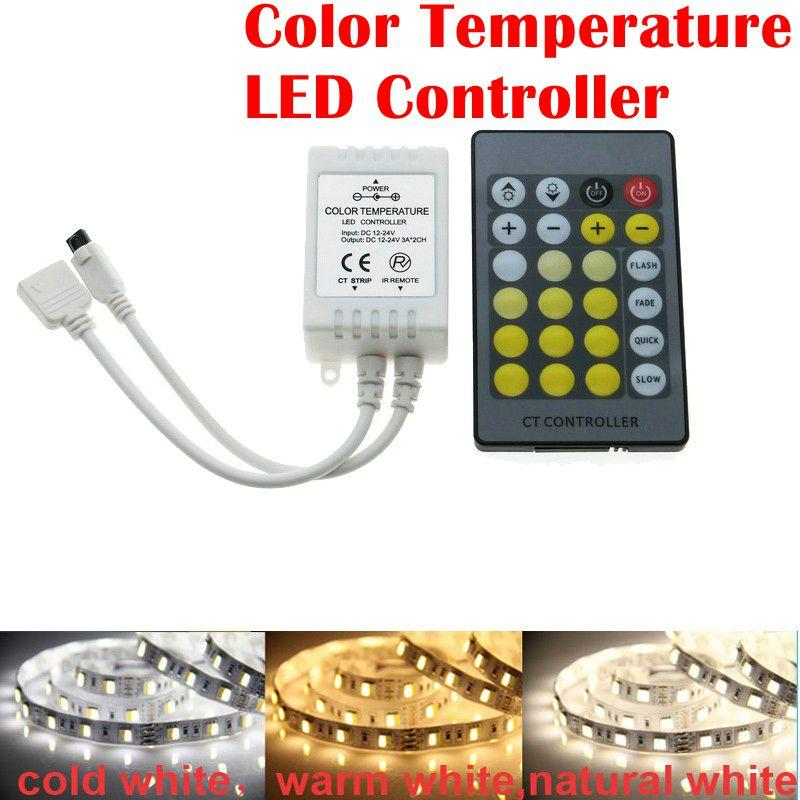 Umlight1688 10pcs/Lot High Quality IR 24 Key CCT Adjustment LED Controller Color Temperature LED Controller With Retail Box