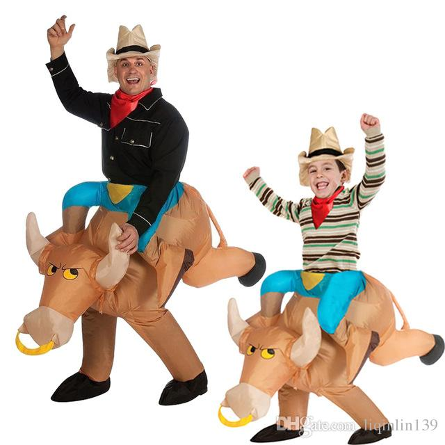 2017 Unisex Two Size Disfraces Adultos Child Halloween Cosplay Ride a Bull Inflatable Costume Costumes for Men Boyu0027s Clothing Inflatable Bull Costume Kid ...  sc 1 st  DHgate.com & 2017 Unisex Two Size Disfraces Adultos Child Halloween Cosplay Ride ...