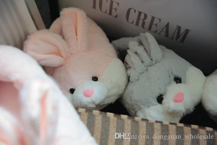 2017 Yeni Varış Yumuşak Peluş Sevimli Tavşan Hayvan Desen Ev, Kapalı Terlik Ayakkabı Kadınlar Için Yatak Odası, Ev Hamile ayakkabı