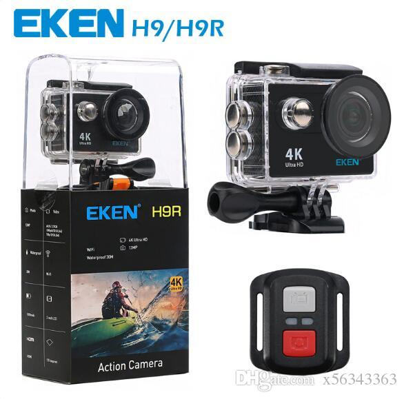 Original EKEN H9 H9R with remote control Ultra HD 4K WiFi HDMI 1080P 2.0 LCD 170D pro Sports camera waterproof MOQ:1PCS