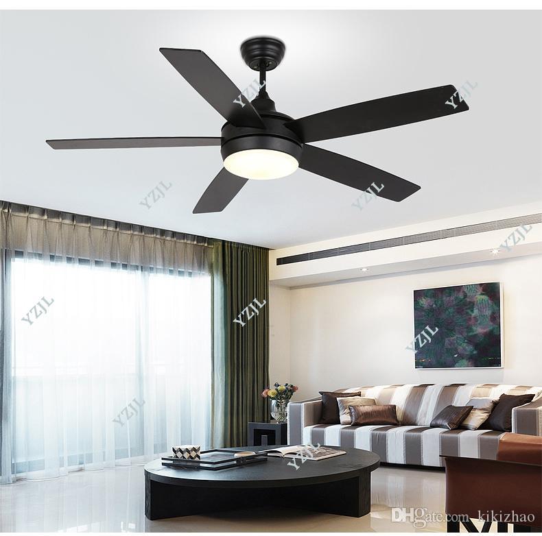 Fünf-Blatt-Decken-Kronleuchter Fan Lichter schwarz Kronleuchter Fächer Lampen LED Kronleuchter Fan Restaurant Schlafzimmer Tür einfach Neues Modell