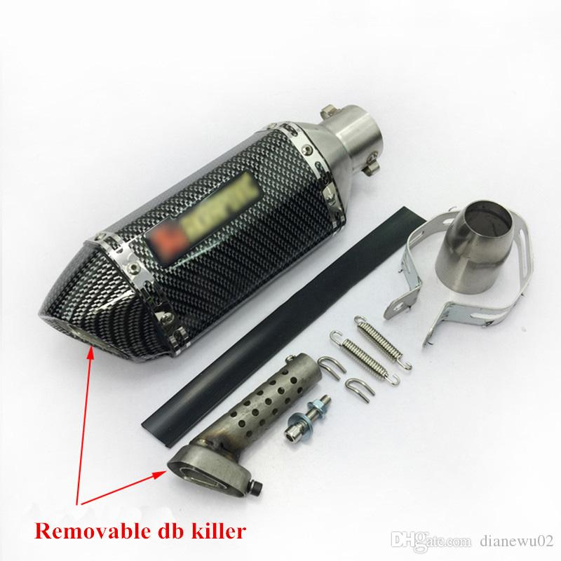 38-51mm Universal Motorcycle Exhaust Muffler Pipe With DB Killer for Scooter Motorcycle Street Bike