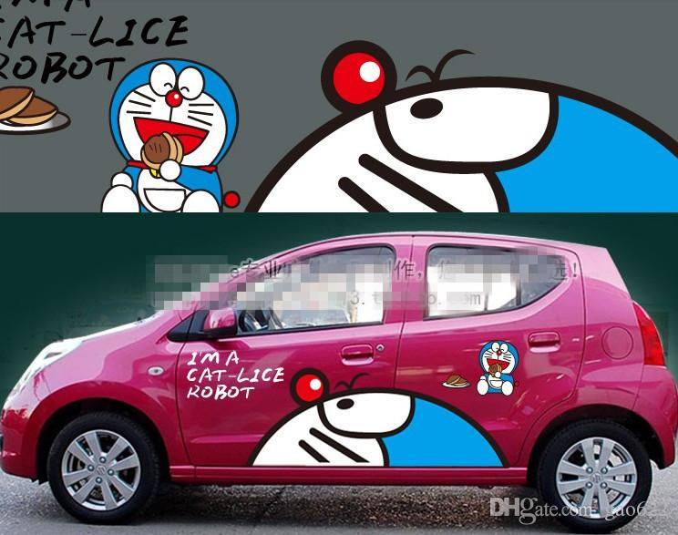New Hot Anime Car Stickers Anime Stickers Doraemon From - Car anime stickers