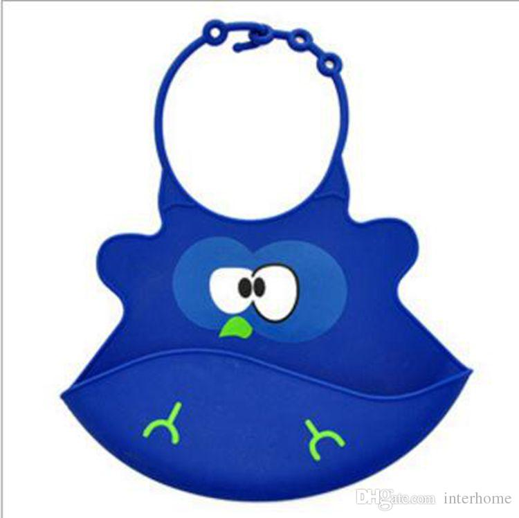 SILIKON Bebek Önlükler Bebek Kolay Yıkanabilir Kırıntı Gıda Catcher Rulo Bebek Besleme Çocuk Önlükler Komik Su Geçirmez Tasarım G332