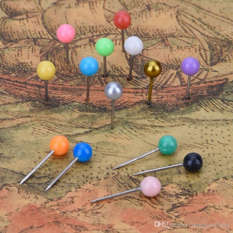 Tachuelas de mapa de alfileres pequeños de 1/8 pulgadas Tachuelas de mapas, cabeza de plástico con punta de acero, 900 piezas, es