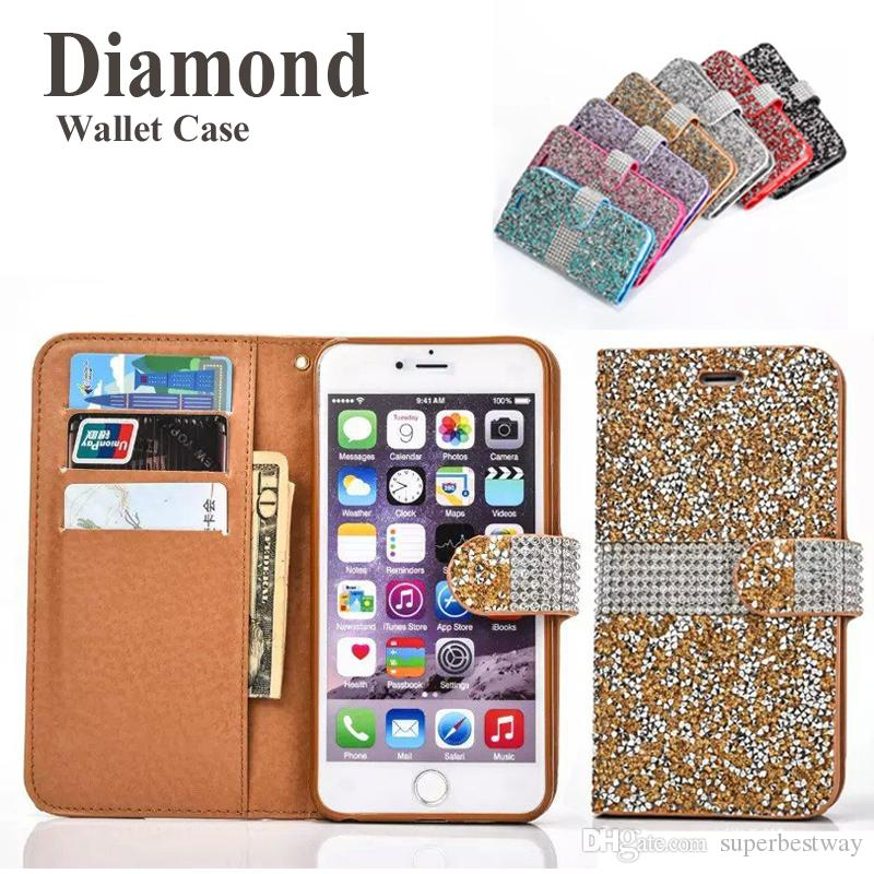 d451d32ffa0 Fundas Moviles Personalizadas Cartera Para IPhone 7 Plus Sparkly Bling  Bling Crystal Diamond Carcasa Para IPhone 7 IPhone 6S SCA246 Fundas Para  Moviles ...
