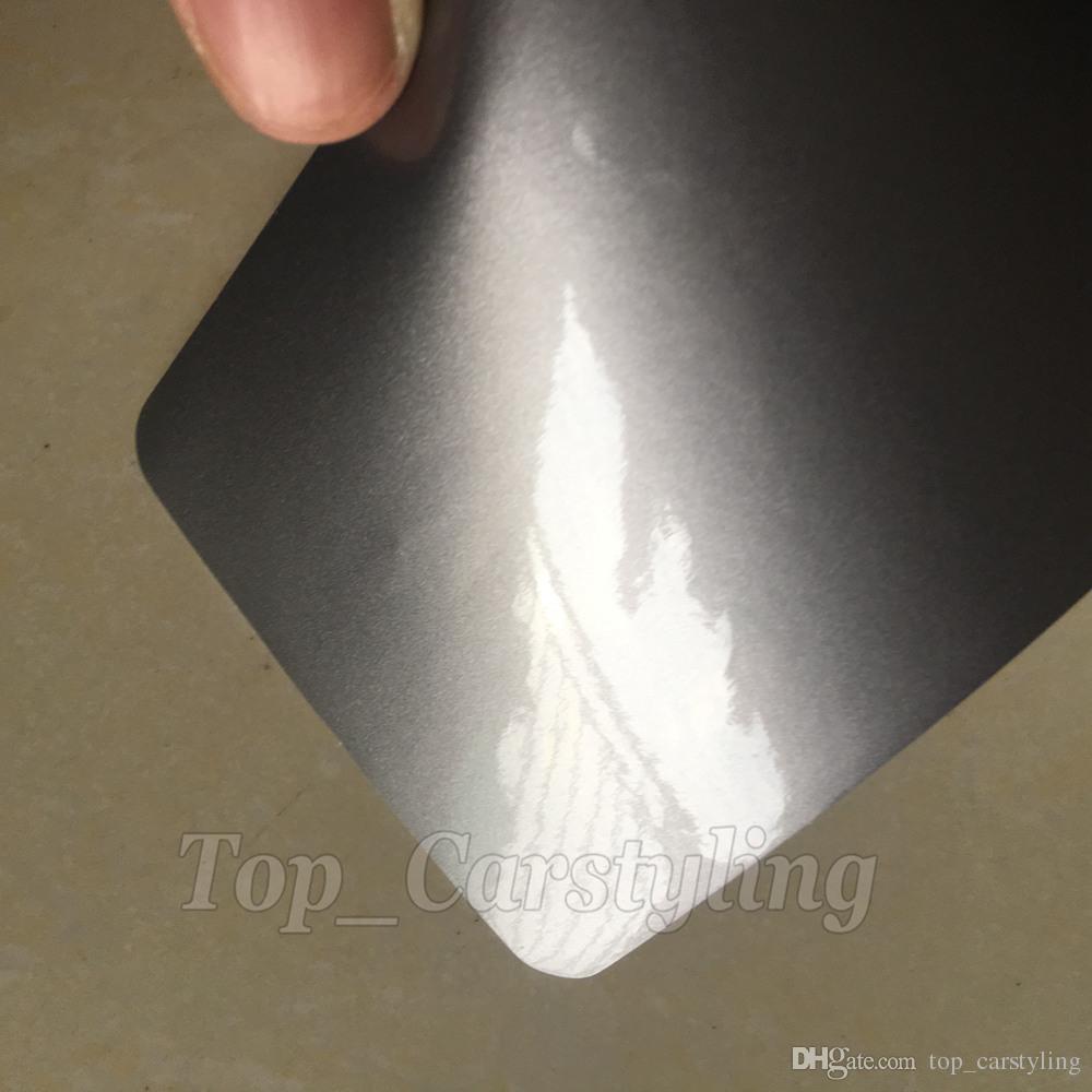 envoltório de alto brilho do vinil do antracite com o envoltório cinzento do veículo de 3 camadas com cobertura livre do carro da bolha Tamanho: 1.52x20m / roll