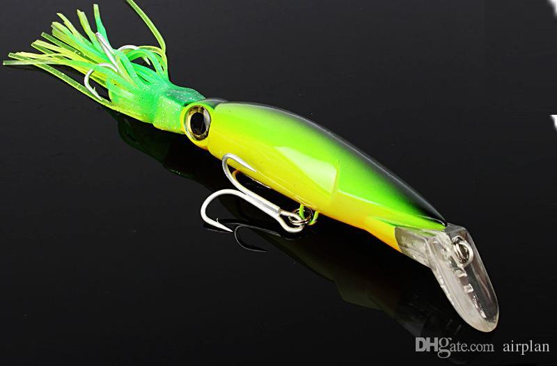 2 pz di 14 cm 40g Grande polpo bionico richiamo esca da pesca wobbler plastica falso squid artificiale esca dura pesca attrezzatura da pesca ganci
