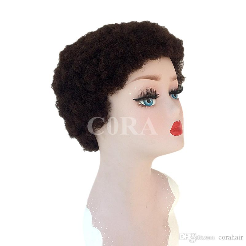 Tight Afro Kinky Curly Celebrity short bob cut wigs with baby hair glueless virgin brazilian short full lace human hair wigs fo
