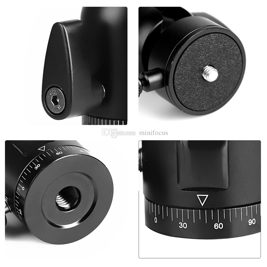 "QA-01 360-degree Rotating Heavy Duty Aluminum Ball Head Ballhead with 1/4"" Round Quick Release Plate for Cameras,Tripods Monopods"