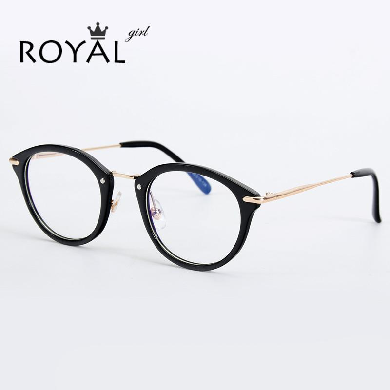 0fabe0f955f 2019 Wholesale ROYAL GIRL Classical Women Eyeglasses Frames Optical Glasses  Acetate Frame Clear Lens Glasses Vintage Spectacles Ss718 From Fragmentt