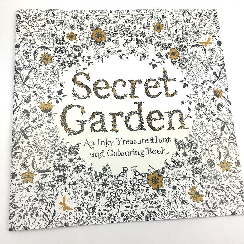 blank english secret garden coloring books for adults kids relieve stress kill time inspiration libros graffiti - Kids Painting Book