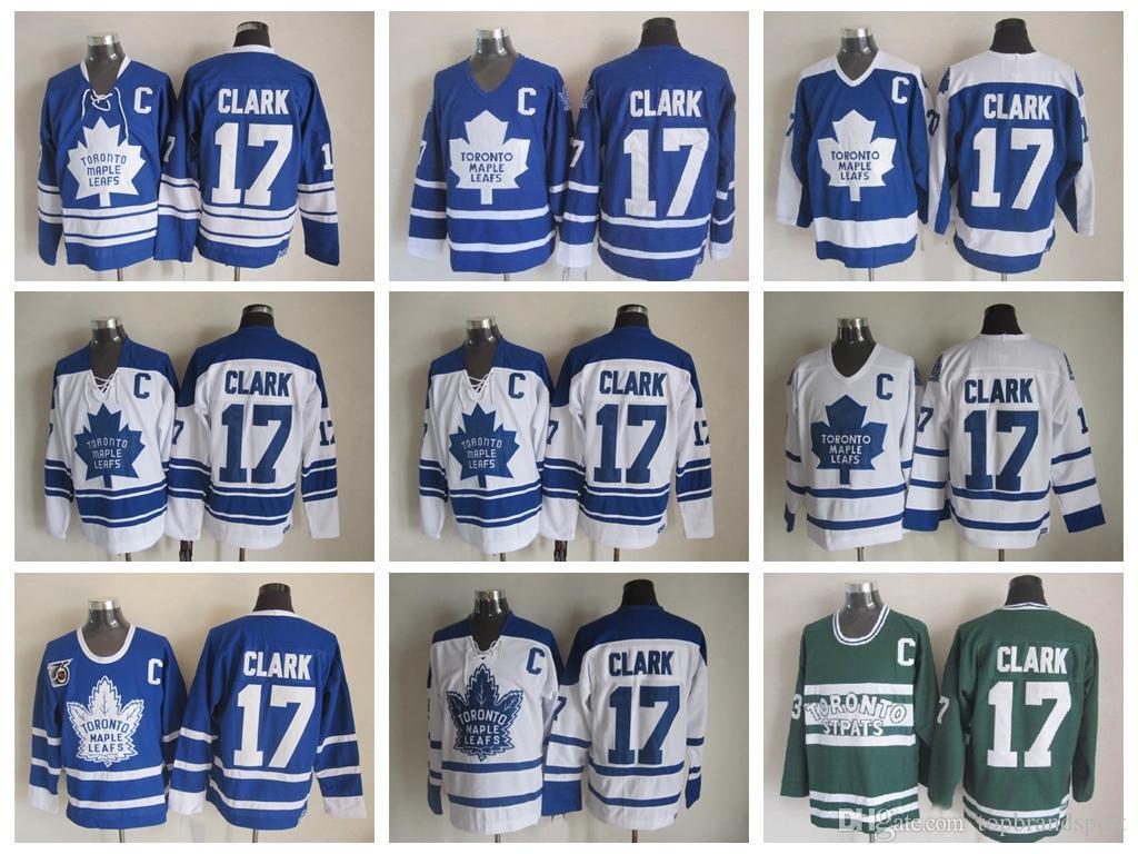 ... 2017 Throwback Toronto Maple Leafs Jersey 17 Wendel Clark Jersey  Vintage Ccm 550 Classic Wendel Clark ... 362b74d1f