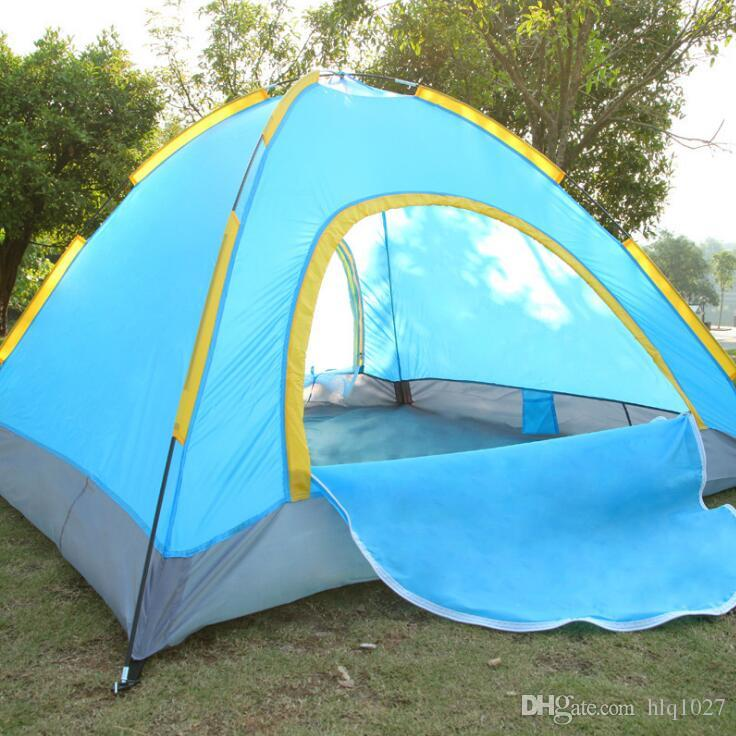 Outdoor Double Layer Rainproof Camping Tent Portable Beach Tent With Bag For 2 People Outdoor Sports Hiking Climbing