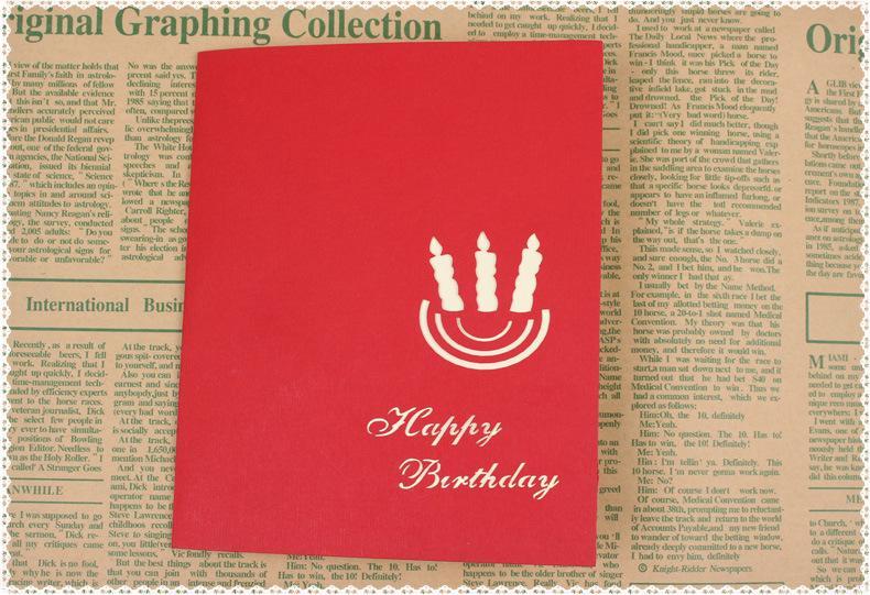 4-Styles Paketlenmiş doğum günü partisi malzemeleri doğum günü hediyesi tebrik kartları çocuklar parti iyilik 3D doğum günü pop-up kartları tebrik kartı
