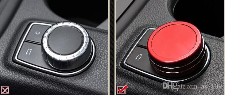 Mercedes Benz Center Console AMG Multimedia Manopola Trim Cover A B E Classe CLA GLA GLK CLS ML GL SLK