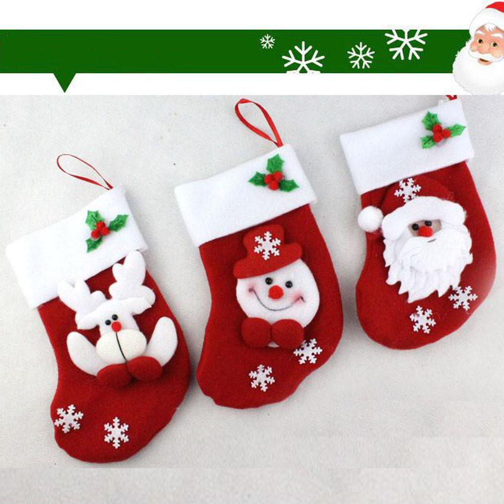 2018 wholesale christmas stocking xmas hanging christmas filler decorations stockings party sack gifts christmas ornaments accessories from fabian05 - Wholesale Christmas Stockings
