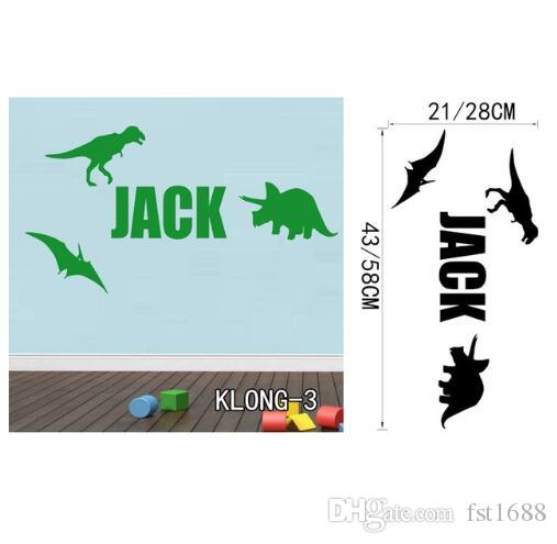 Customized Dinosaurs Wall Stickers for Kids Room DIY Home Decals Cartoon Dinosaurs Birds Sticker Room Posters