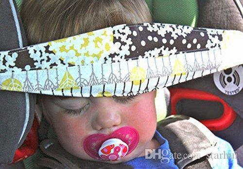 Moda Bebé Asiento de Coche Sleep Ajustable Cinturón Nap Aid Safety Head Support Holder Band Para Viajes Protector Para Niños WX-P03