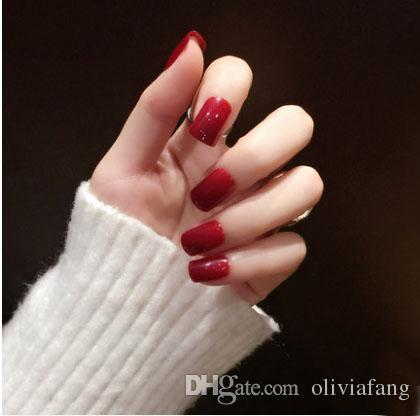 Best Rock Nails Cheap Acrylic Extensions Nails - New Design Fake Nail Tips Diamond Shining Nails Bling Bling Birde