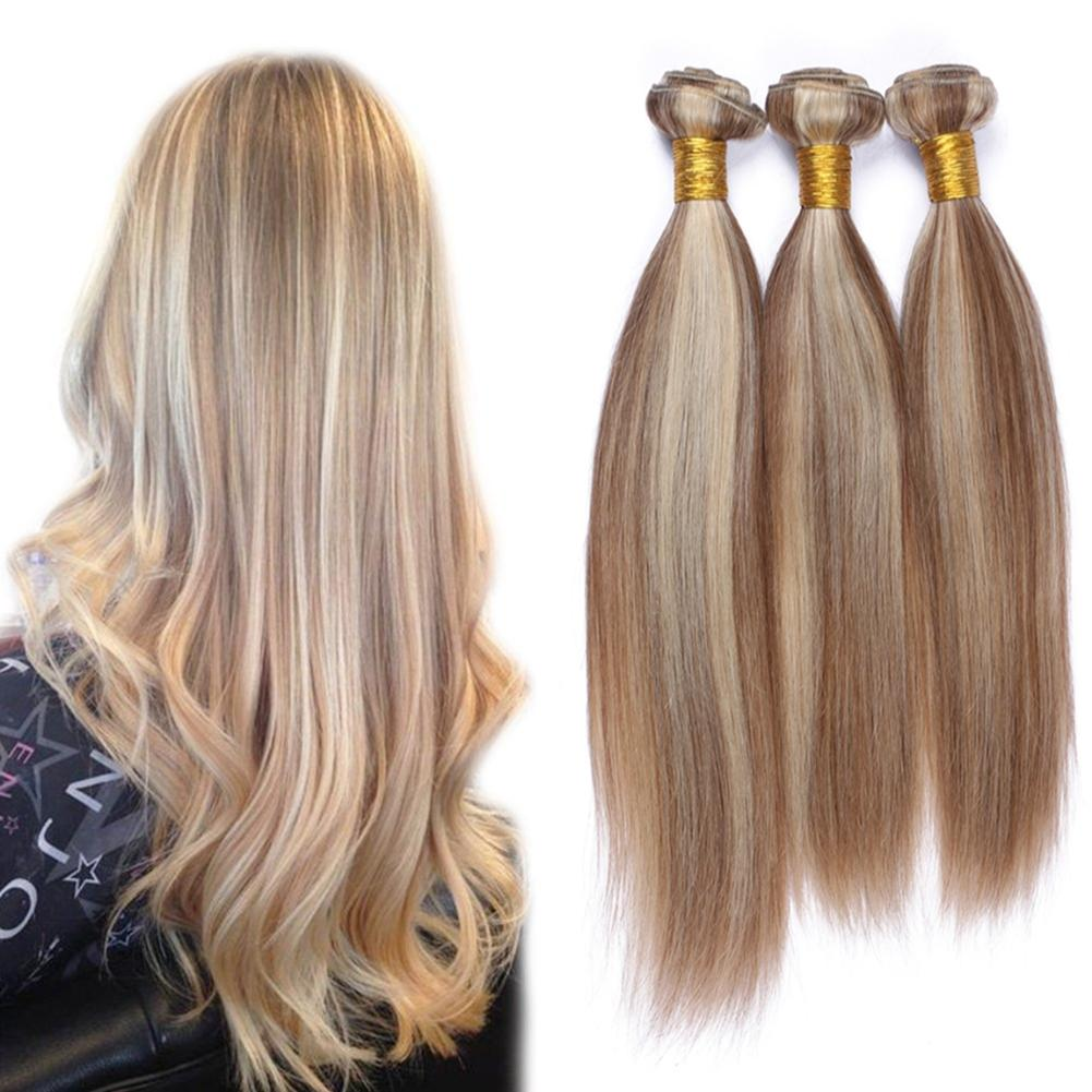 Mix Color Human Hair Extension 10 30 Inch Two Color 27 613 Silky