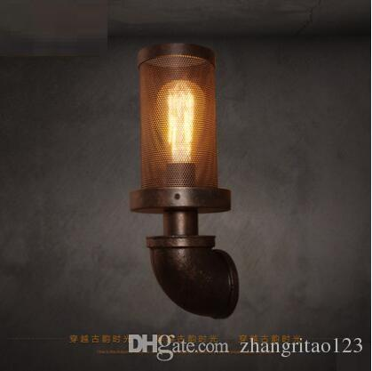 2018 american loft style vintage wall light fixtures creative 2018 american loft style vintage wall light fixtures creative antique water pipe lamp for bedroom edison retro industrial wall sconce lamparas from mozeypictures Image collections