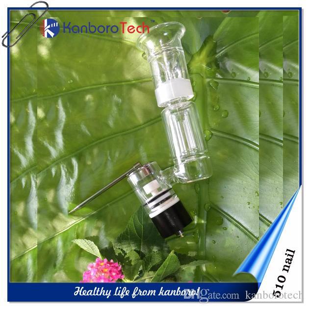 Gratuit Vaping 510Nail Céramique / Titane / Quartz Verre ongles Dôme pour Vape Pen E-cigarette Vaporizer avec détachable Atomiseur Portable Vape.