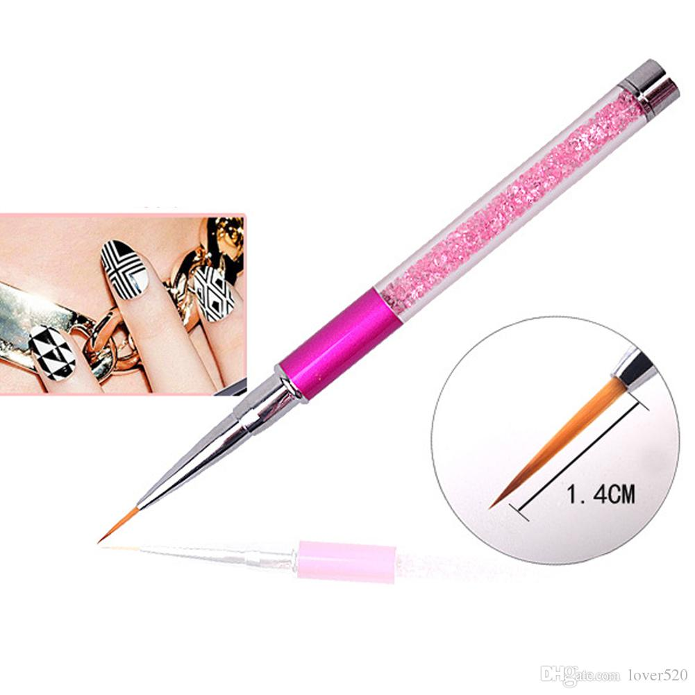Professional Multi-Function Crystal Acrylic Nail Art Painting Brush UV Gel Painting Drawing Manicure Tips Design Brush Pen Tools