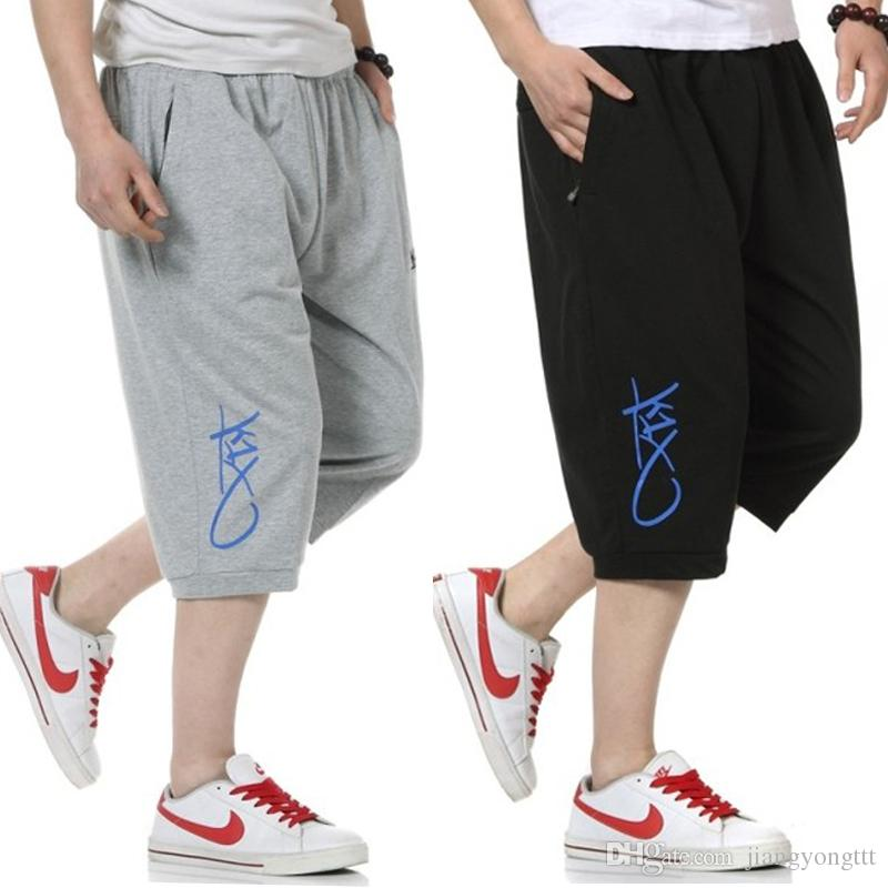 5941f3b022063 New Men Sports Pants Loose Casual Capris Shorts Hip Hop Student s Shorts  With Pocket Plus Size L-6XL Men Sports Pants Loose Casual Capris Shorts Hip  Hop ...