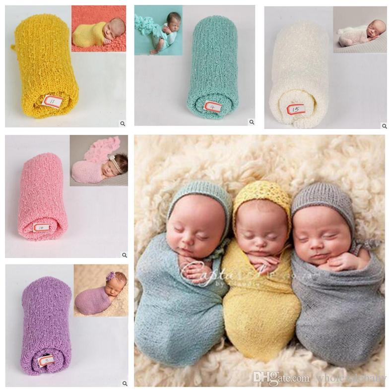Baby swaddling photography props newborn wrap stretch knit blankets soft bedding sleep sacks scarves baby newborn swaddle bath towels j164 baby swaddling