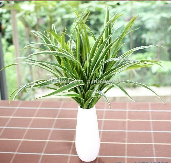 Artificial Fake Plastic Green Leaves Grass Plant Home House Wedding Festival Decoration Gift F225