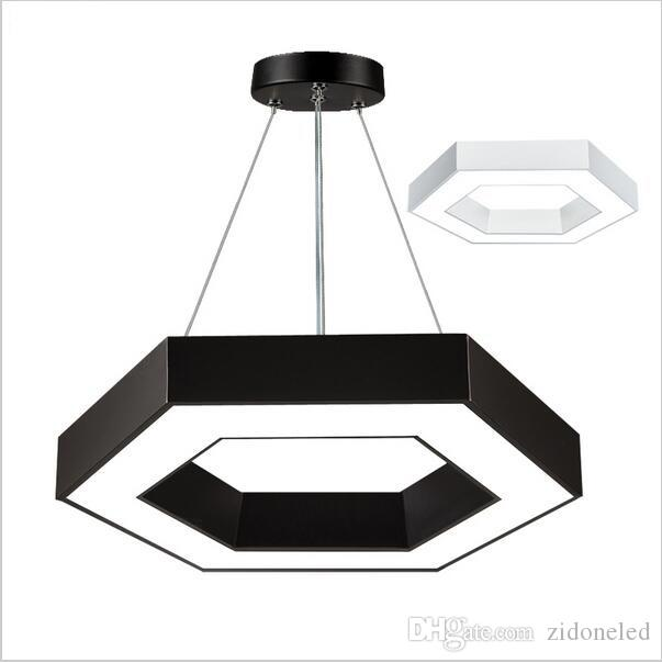 Modern office hexagon led pendant lights minimalism metal pendant modern office hexagon led pendant lights minimalism metal pendant fixtures luminaria lampares led hanging light suspension lighting fixture ceiling lighting aloadofball