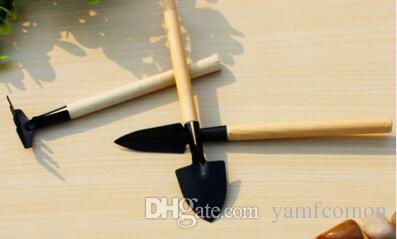 / Set Mini Garden Hand Tool Kit Impianto Giardinaggio Pala Spade Rastrello Cazzuola Manico in legno Metal Head Gardener