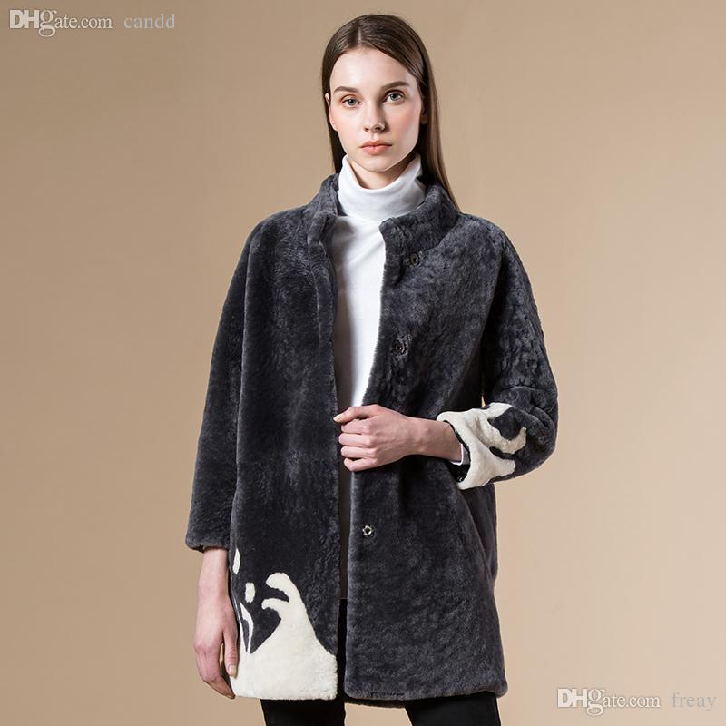 2018 Wholesale 80cm Long Women Winter Warm New Real Fur Coat Top ...