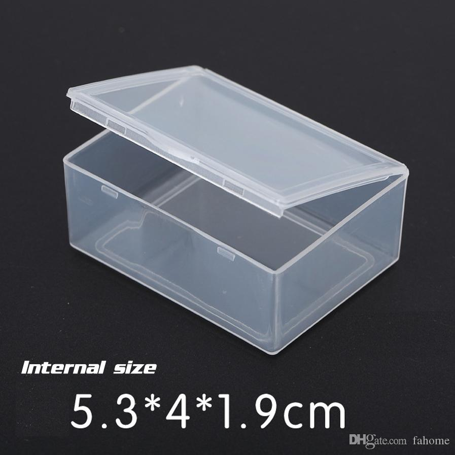 2018 5 3 4 1 9cm Mini Hard Square Box Clear Plastic