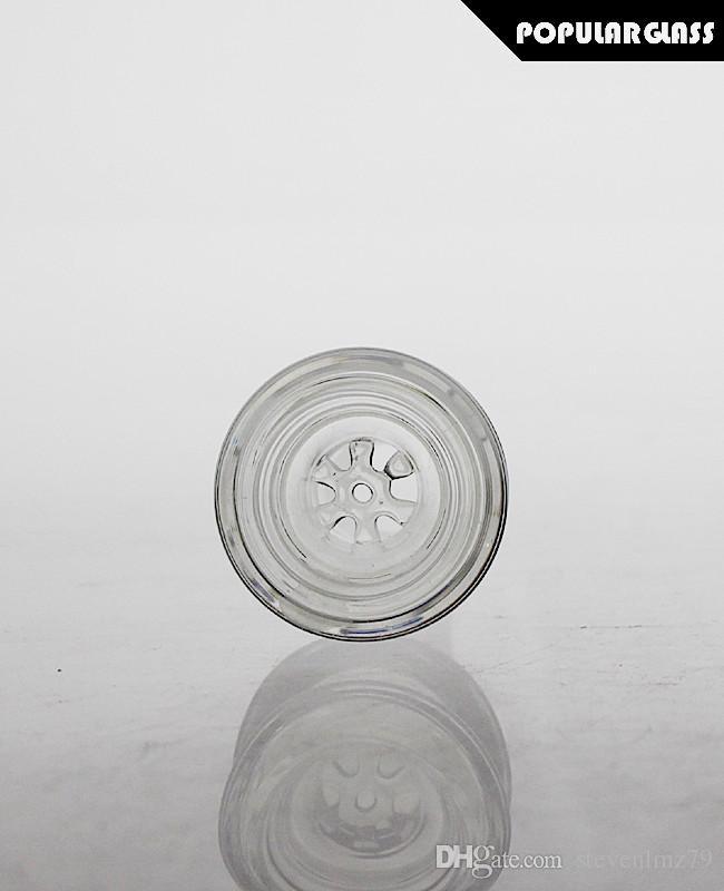 kase ortak boyutu 18.8mm / 14.4mm PG5077 sigara SAML kase slayt çiçek cam ekranı cam su boruları için kaseler ve bonglar