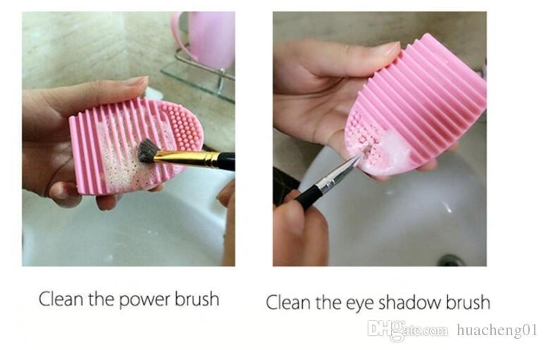 جديد فرشاة تنظيف البيض المكياج غسل Brushegg سيليكون قفاز الغسيل مسحوق التجميل مؤسسة أدوات تنظيف فرشاة نظافة