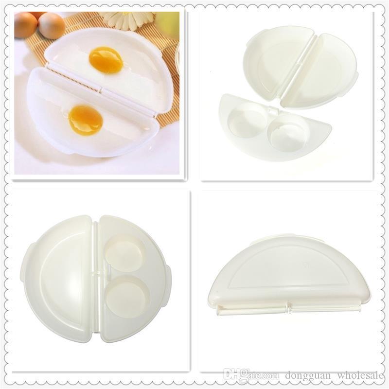 Nova Chegada Útil Dois Ovos Ovo de Microondas Panela de Microondas Fogão de Microondas Frigideira Ovos Steamer Casa Cozinha