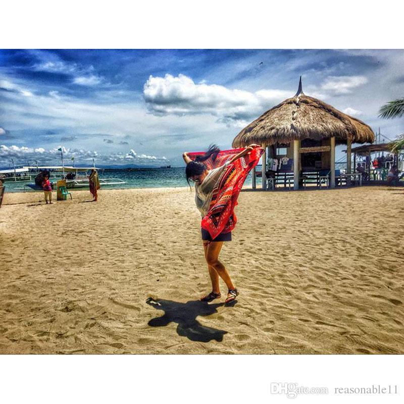 Round National Wind Tassel Tapestry Towel Summer Swimming Sunbath Beach Towels Red Traveling Wear Beach Dress