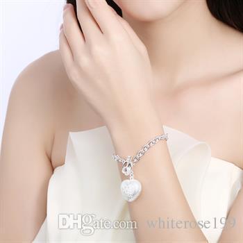 Großverkauf - Niedrigster Preis des Kleinhandels Weihnachtsgeschenk, freies Verschiffen, neues silbernes Art und Weise Armband 925 Bh062