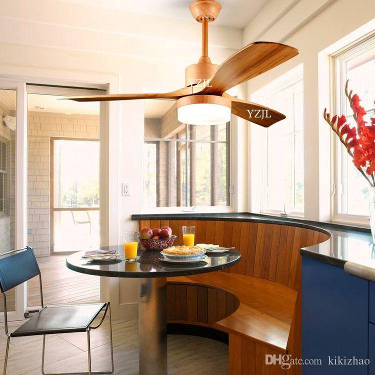 Nordic simple fan chandelier lamp frequency conversion fan chandelier living room dining room bedroom fan with light