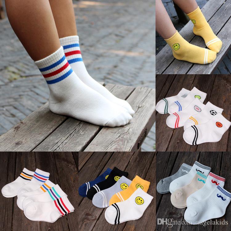 garçons chaussettes enfants chaussettes Enfants chaussettes classique coton rayé chaussettes enfants bande dessinée chaussettes à la cheville 1-12 ans garçon