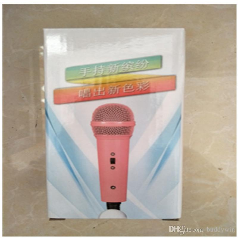 Мини-мобильный телефон микрофон 3.5 мм проводной портативный микрофон плеер пение запись для смартфонов с розничной коробке