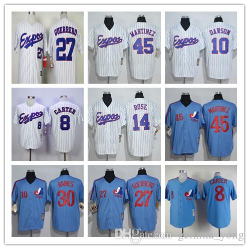 official photos 25ce6 86fbd montreal expos 10 andre dawson 1982 white throwback jersey