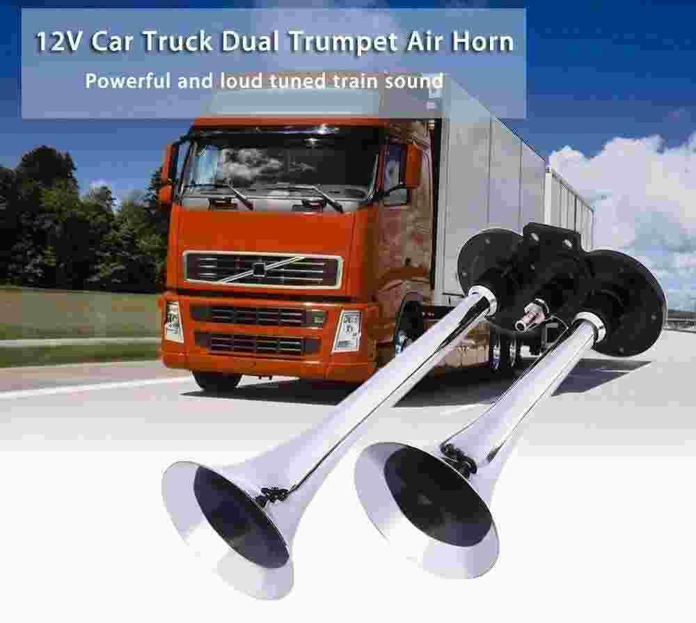 Air Horn12v Car Truck Boat Dual Trumpet Train Loud Sound Air Horn ...