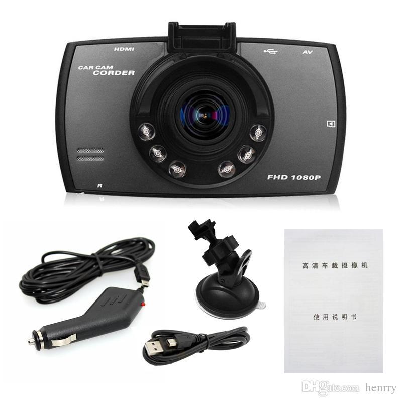 2.7 Pouces HD Affichage Dash Cam Caméra Voiture DVR Novatek PZ906 G30 Détection de Mouvement Un Verrouillage à Clé Cycle Enregistrement G-Capteur IR-Lumières EMS